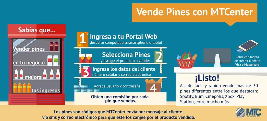 Vende Pines en tu negocio y genera ingresos adicionales