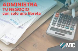 libreta y calculadora administra tu negocio mtcenter