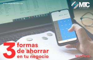 mano con celular calculadora 3 formas de ahorrar mtcenter