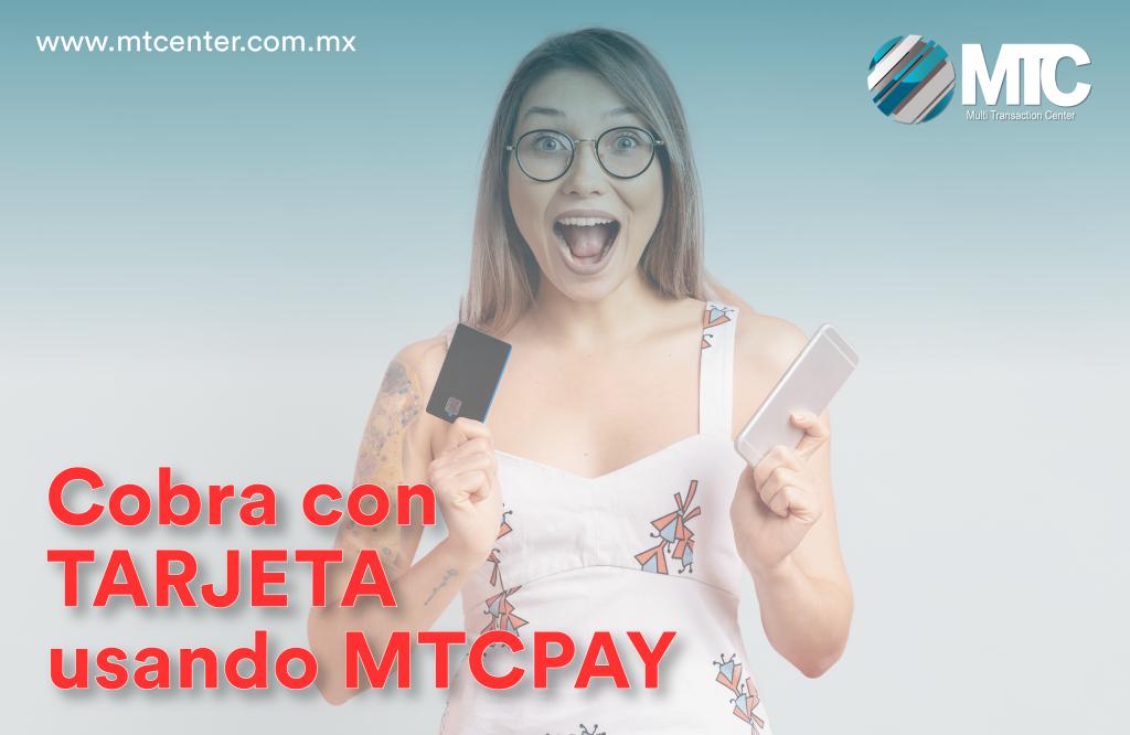 mujer tarjeta celular cobra tarjeta usando mtcpay mtcenter